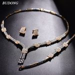 BUDONG Bridal <b>Jewelry</b> Sets Sparkling Infinity Wedding Necklace Earrings Bracelet For Women Engagement <b>Accessories</b> Women XUT810