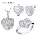 MEGREZEN Cubic Zirconia <b>Jewelry</b> Set Indian <b>Accessories</b> Bijouterie Silver Jewelery Bridal Necklace Sets Colares Com Brincos Ys-5