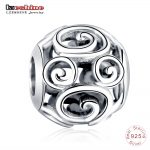 LZESHINE <b>Antique</b> 925 Sterling Silver Openwork Round Charm Beads fit Original Bracelets Brand <b>Jewelry</b> Accessories PSMB0839