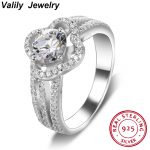 Valily <b>Jewelry</b> 100% Authentic <b>Antique</b> 925 Sterling Silver Rings With AAA Zirconia Women Rings Engagement Infinite band Ring Anel