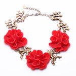 Necklaces Chunky Flower Pretty Women Floral Spike Collar Royal Affair <b>Antique</b> <b>Jewelry</b> Pendant Vintage Accessory