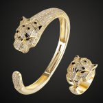 2018 New Arrival Eye Tiger Animal Bangle Rings Sets <b>Jewelry</b> For Women Party Gifts Women's Bangle <b>Accessory</b> Sets Men Bangle rings