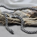 Thai silver dragon original handmade necklace 925 sterling silver male <b>jewelry</b> 7mm thick 55cm 60cm long necklace (HY)