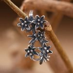 5pcs/lot <b>Art</b> <b>Deco</b> Flower Retro 925 Sterling Silver Semi Mount Pendant Clasp Clip Fine <b>Jewelry</b> Setting