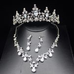Luxurious Zirconia Sparkling Wedding Bridal <b>Jewelry</b> Sets Top Silver Tiara Bride Necklace Earring Wedding <b>Jewelry</b> <b>Accessories</b>