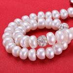 Pearl Necklace For Women pearl <b>Jewelry</b> 8-9mm Natural Freshwater Pearls Crystal Ball Wedding/Party / Daily Life /Gift <b>accessories</b>