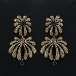 Flower Drop Earrings for Women 2017 New Vintage <b>Antique</b> Gold Color Stellux Rhinestone Crystal Statement <b>Jewelry</b> Wholesale