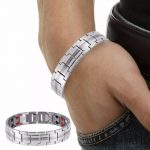 Fashion Wide <b>Jewelry</b> Bracelet Healing FIR Magnetic Steel Bio Energy Bracelet For Men Blood Pressure <b>Accessory</b> Silver Bracelets