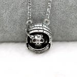 <b>Antique</b> Silver Death Astronaut Pendant Necklace Punk Gothic Male Personalized <b>Jewelry</b>