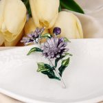 Bella Fashion Enamel Chrysanthemum Flower Brooch Pins Brooches For Women Lady <b>Accessory</b> Party Daily <b>Jewelry</b> Mother's Day Gift