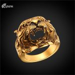 316L stainless steel <b>antique</b> tiger ring for men 2017 unique design gold color mans ring animal <b>jewelry</b> R2466G