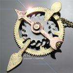 Vintage Bronze & Silver Steampunk Watch Clock Hand Gear Pendant Necklace <b>Art</b> <b>Deco</b> Kitsch <b>Jewelry</b> 2018 New