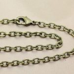 70cm,90cm 3*5mm <b>Jewelry</b> Vintage Chain <b>Antique</b> Bronze chain,Alloy/Metal Chain with Lobster clasp 50pcs/lot Free shipping~!