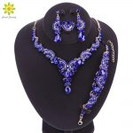 Fashion Crystal Wedding <b>Jewelry</b> Sets For Bride Party Costume <b>Accessories</b> Bridal Necklace Earring Bracelet Ring Jewellery for Wom