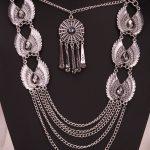 Angel wings bib necklace women biker bling <b>jewelry</b> gifts adjustable <b>antique</b> silver color YJ06 wholesale dropship