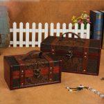 2 Size Retro Storage Box <b>Antique</b> Wooden Box European Retro Creative Cosmetics Box Makeup Organizer Secret Room Props Storage Box