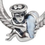 1PCS/lot Free Shipping <b>Antique</b> 925 Sterling Silver European Angel Charms Beads fit Pandora Style Bracelets <b>Jewelry</b>