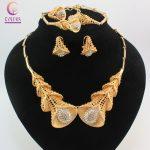 Fashion Dubai <b>Jewelry</b> Sets Bridal Gift Nigerian Wedding <b>Accessories</b> Big African Gold Color <b>Jewelry</b> Set Wholesale New Design