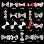200PCS Nail <b>Art</b> Tips Stickers <b>Deco</b> Bow Knot Alloy <b>Jewelry</b> Multicolor Glitter Rhinestone nail gel (madehand)