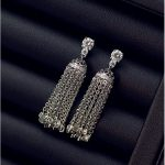 High quality luxury long fringed European and American sterling silver earrings earrings Korean <b>accessories</b> allergy <b>jewelry</b> fema