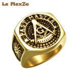La MaxZa Trendy Big Signet Vintage Rings For Men Oval Black Stone Rings Men Cool Rock Punk <b>Antique</b> Silver Ring <b>Jewelry</b> Wholesale