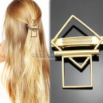 <b>Art</b> <b>Deco</b> Silver Geometric Square Bar French Updo Hair Pin Clip Dress Barrette <b>Jewelry</b> 2018 New