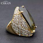 CHRAN Brand <b>Jewelry</b> Big Stone Rings Wholesale Costume Wedding <b>Accessories</b> Rings Charm Cubic Zirconia Rings for Women