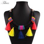TengMaxi Bohemia Strand Necklace&Pendants Statement Beads Tassels Women Necklace <b>Antique</b> Tribal Ethnic Boho <b>Jewelry</b> Mujer Bijoux