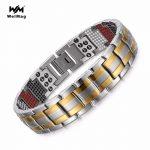 WelMag Fashion <b>Jewelry</b> Healing FIR Magnetic Bracelets Titanium Bio Energy Bracelet For Men Blood Pressure <b>Accessory</b> Wristband