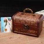 <b>Antique</b> Decorative Gift Box Wood Storage Box Vintage Wooden <b>Jewelry</b> Case with metal clock Organizor Home Decor Desktop Organizer