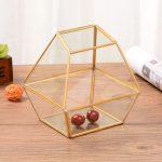 Simple modern geometric polygon glass greenhouse glass crafts <b>antique</b> <b>jewelry</b> box