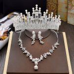 Wedding <b>Jewelry</b> Bridal <b>Jewelry</b> Sets for Brides Women Pearl Tiara Necklace Earrings Clip Hair <b>Accessories</b> Ornaments Fashion Crown