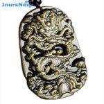 JoursNeige Natural Golden Obsidian Dragon Pendants Stone Necklace Beads Women Man Golden Obsidian Chain <b>Jewelry</b> <b>Accessories</b>