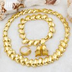 2018 Fashion Simple Design 18 Gold <b>Jewelry</b> Sets Rings for Women Necklace Earring Ring Charm Bridal Party <b>Accessories</b> Gift