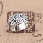 Deer King <b>jewelry</b> silver ring S990 wholesale sterling silver Buddhist <b>antique</b> style opening Pisces explosion