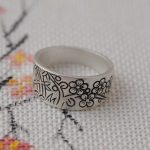 Deer King <b>jewelry</b> wholesale silver <b>ANTIQUE</b> STERLING SILVER RING S990 matte process blossoming explosion