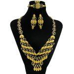 CZ Fashion African V-Design Big Necklace Dubai Gold <b>Jewelry</b> Set Classic Bride Wedding Ring Earrings <b>Jewelry</b> <b>Accessories</b>