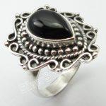 Silver BLACK ONYX <b>Antique</b> Look Ring Size 7 ! Handmade <b>Jewelry</b>