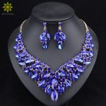 Fashion Crystal Bridal <b>Jewelry</b> Sets Party Costume <b>Accessories</b> Wedding Necklace Earring Set for Brides Women 5Colors