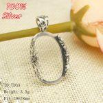 100% 925 Sterling-Silver-<b>Jewelry</b> Pendents Blank for men/women ,19*28mm Flower lace Oval Shape Base Tray <b>Antique</b> Bronze Handmand