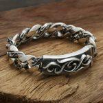 S925 wholesale <b>sterling</b> <b>silver</b> <b>jewelry</b> <b>silver</b> star with a Korean man to spend eternity retro <b>Silver</b> Flower Bracelet