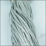 1 bundle DIY <b>Jewelry</b> <b>Accessories</b> 5mm Wide PU Silver Imitation leather cord bracelet braided rope necklace accessorie of 100 m