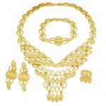 European Fashion Women 24 Gold <b>Jewelry</b> Sets Necklace Bracelet Rings for Women Birthday Party Exquisite <b>Jewelry</b> <b>Accessories</b>
