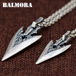 BALMORA 1 Piece 990 Pure Silver Pendants for Women Men Lovers Vintage Weapon Design Thai Silver <b>Jewelry</b> <b>Accessories</b> Gift SY14381