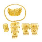 Dubai Creative Design 24 Gold <b>Jewelry</b> Sets Bridal Wedding Necklace Bracelet Earrings Exquisite Gift <b>Jewelry</b> <b>Accessories</b>