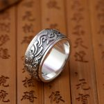 Deer King <b>jewelry</b> wholesale silver S925 sterling silver ring <b>antique</b> crafts <b>jewelry</b> can rotate Buddhism