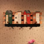 Vintage Multi Function Wood Storage Shelf With Hooks Retro Wooden Wall Hanging Cabinet <b>Antique</b> Rack Clothes <b>Jewelry</b> Holder Decor