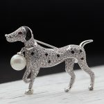 2018 New Year Brand Cubic zircon Dog animal Brooches <b>jewelry</b> For Women Men <b>Jewelry</b> Imitation Pearl hijab <b>Accessory</b> Men's Brooch