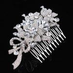 Stunning <b>Art</b> <b>Deco</b> Silver Clear Rhinestones Crystals Pearls Leaves Wedding Hair Comb Bridal Hair Accessories Hair <b>Jewelry</b> Women