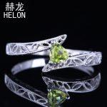 Vintage <b>Art</b> <b>Deco</b> Fine <b>Jewelry</b> Solid 10K White Gold Generous1ct Trillion Genuine Peridot 4.5mm Engagement Wedding New Ring